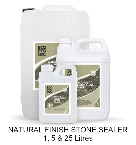Natural Finish Stone Sealer 1, 5 & 25 Litre