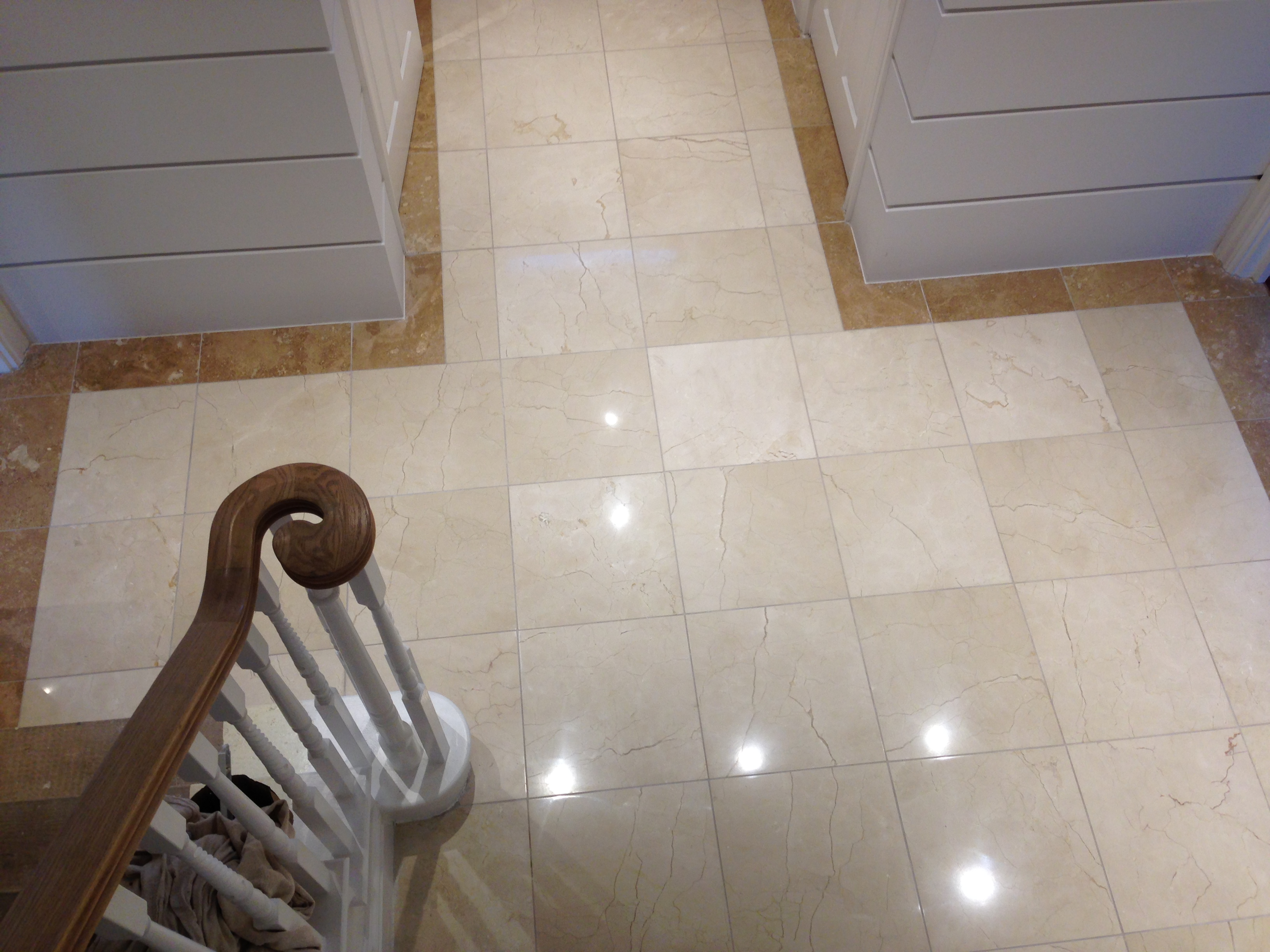 Absolute stone care restoration of floors deep cleaning and what we did the marble floors in this hallway had lost all their polish we chemically cleaned the tiles and grout lines and diamond polished through the dailygadgetfo Images
